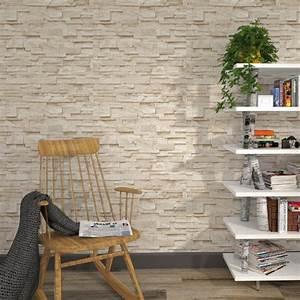 Tapisserie 4 Murs : intiss parement coloris beige pierre beige calcaire ~ Zukunftsfamilie.com Idées de Décoration