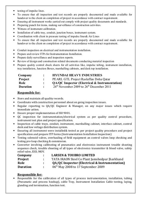 top 5 qa qc engineer cover letter sles md resume