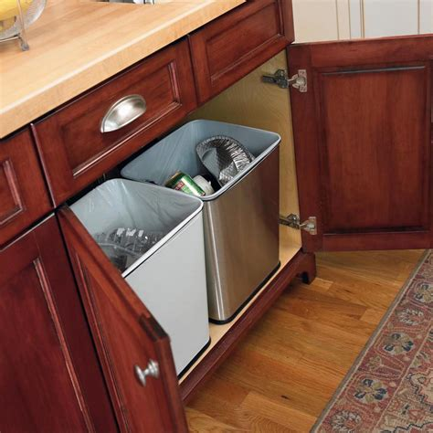cabinet trash can counter trash can by polder in cabinet trash cans