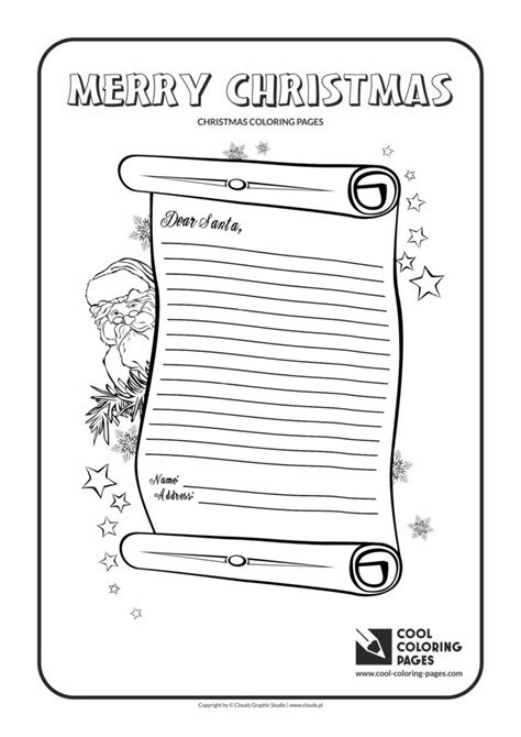cool coloring pages letter  santa claus   coloring page cool coloring pages