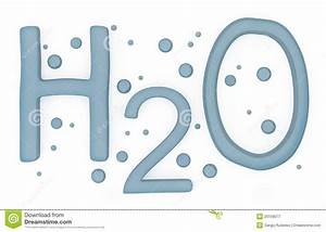 Water H2o Sign Isolated On White Stock Illustration