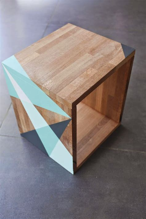 table de nuit cube 1000 ideas about table on nightstands