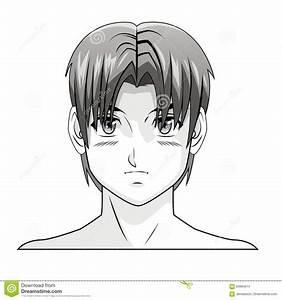 Coiffure Manga Garçon : coiffure comique de manga d 39 anime de gar on de visage illustration de vecteur illustration du ~ Medecine-chirurgie-esthetiques.com Avis de Voitures