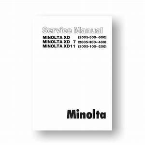 Minolta Xd7 Manual