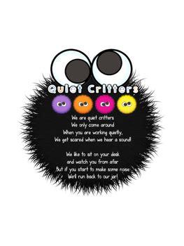 quiet critters jar label freebie  male kindergarten