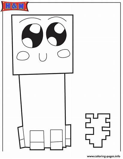 Creeper Coloring Pages Printable Info