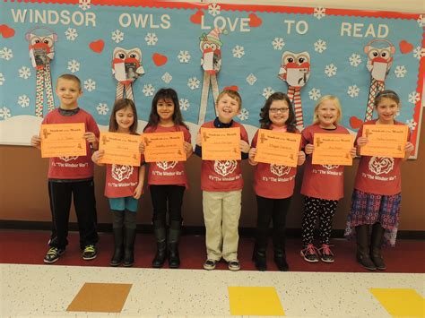 windsor elementary student month assembly