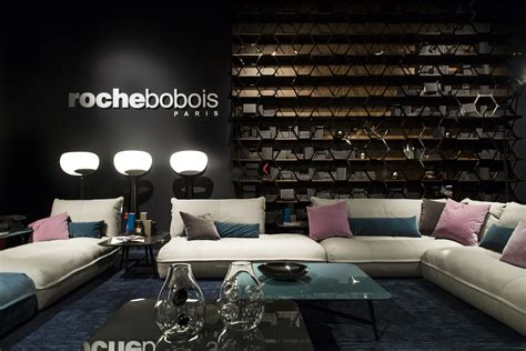 canapé cuir 2 places roche bobois furniture design living room 3d