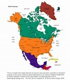 Free Map of north america - HolidayMapQ.com