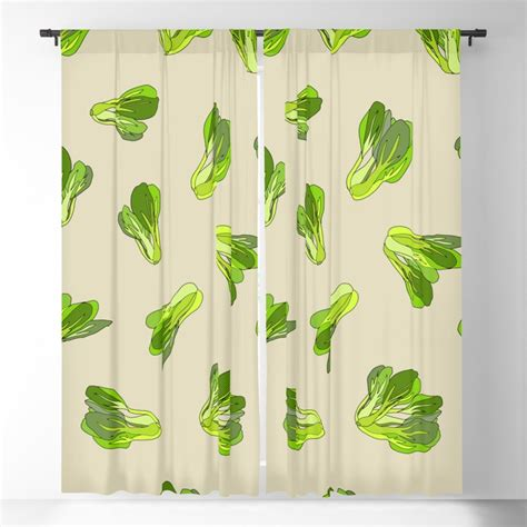 It's available in 7 advanced views presented in a photoshop the psd mockup includes a help file, a changeable background and ready photo filters that you can apply instantly. Lettuce Bok Choy Vegetable Blackout Curtain by notsniw ...