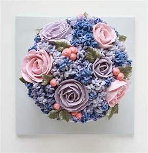 Hydrangea and Roses Buttercream Cake — Eat Cake Be Merry