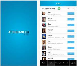 Track class attendance fees with this iphone app for Mobile phone based attendance tracking system project documentation