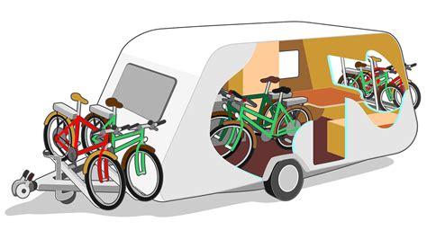 fietsen mee  de caravan anwb