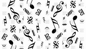 Music notes seamless background Royalty Free Vector Clip ...