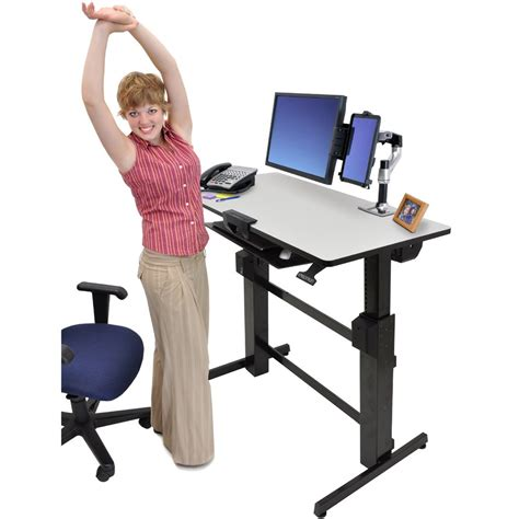 ergotron sit stand desk adjustment standing desk ergotron 24 271 926 workfit d