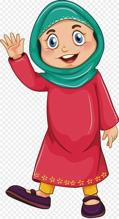 Muslim Illustration Clip Hijab Islamic Islam Wearing