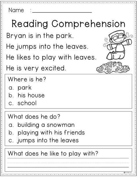 You'll be late for your next class (if you don't stop now). Free Reading Comprehension (With images) | First grade ...