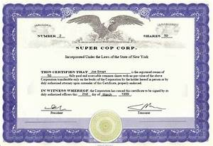 Evidencing ownership in a corporation nothing beats a share certificate imke ratschko new for Llc certificate of ownership