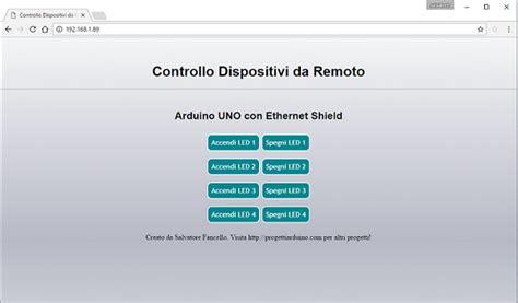 77 arduino uno ethernet shield webserver progetti arduino