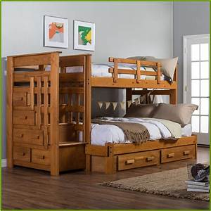 Twin, Over, Full, Bunk, Beds, With, Desk