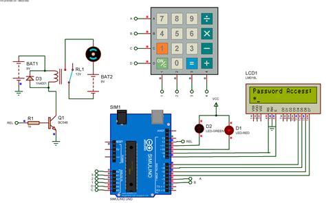 Password Based Door Lock System Using Arduino Simulino Uno