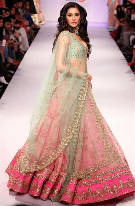 dress pink floral lehnga choli design for 2014 15