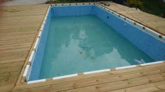Deck Around Intex Pool hanging a rectangular intex ultra frame pool directly from