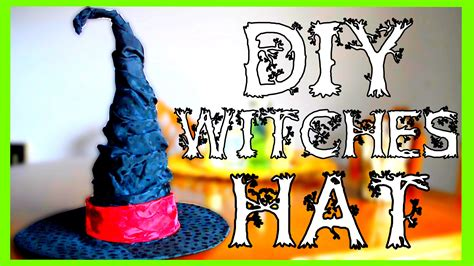 How To Make A Witch Hat  Halloween Diy Youtube