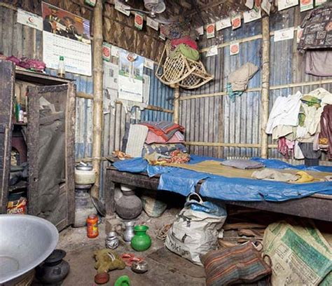 slum huts  bangladesh photographed  sebastian keitel