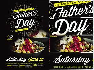 Father's Day Brunch Flyer Template - FlyerHeroes