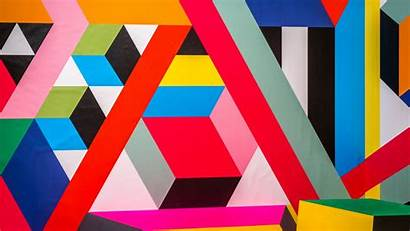 Geometric Pattern Colorful Shapes Modern Background Lines