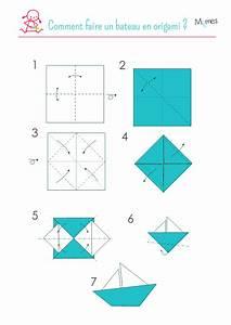 Comment Faire Des Origami : un voilier en origami ~ Nature-et-papiers.com Idées de Décoration