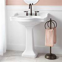 bathroom pedestal sink Cierra Large Porcelain Pedestal Sink - Pedestal Sinks - Bathroom Sinks - Bathroom