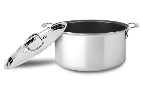 clad  stainless nonstick stock pot  quart cutlery