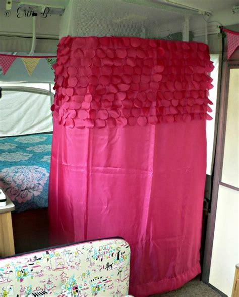pop shower curtain erin s pop up cer makeover the pop up princess