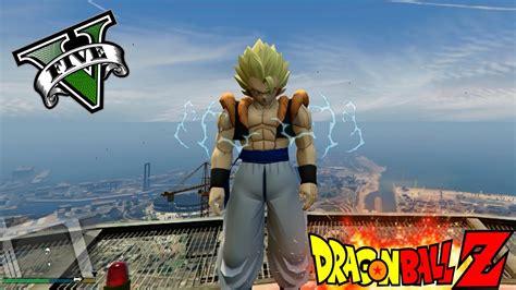 gogeta  nuevos poderes en gta  goku mod dragon ball