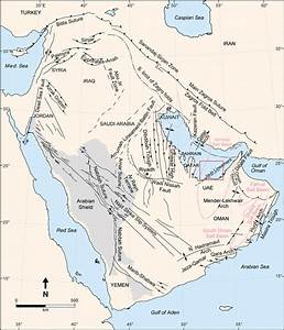 Structural And Tectonic Map Of The Arabian Plate Showing