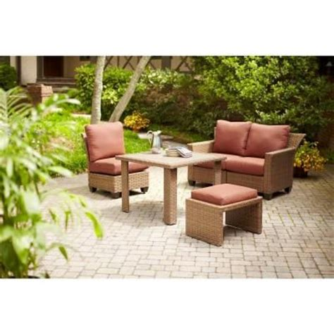 hton bay tobago 5 modular patio sectional set