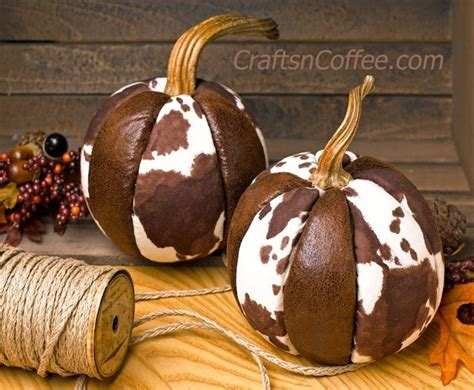 How To Sew Cowhide by Tutorial No Sew Cowhide Pumpkins Sewing