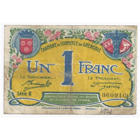 chambre du commerce grenoble 38 grenoble chambre de commerce 1 franc 1922 tres beau