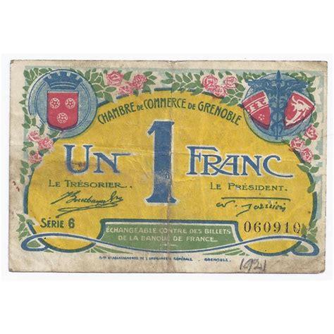 chambre de commerce grenoble 38 grenoble chambre de commerce 1 franc 1922 tres beau