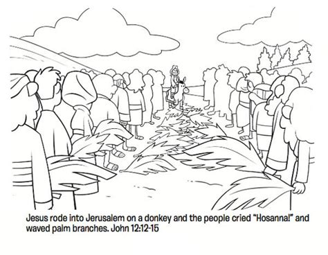 palm sunday coloring pages  coloring pages  kids