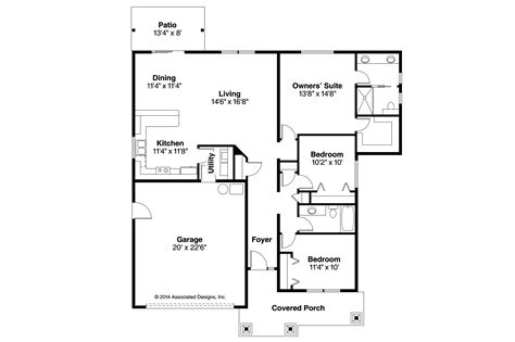 house floor plans craftsman house plans ravenden 30 712 associated designs