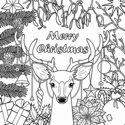 Coloring Christmas Pages Printable Holidays Adults 30seconds
