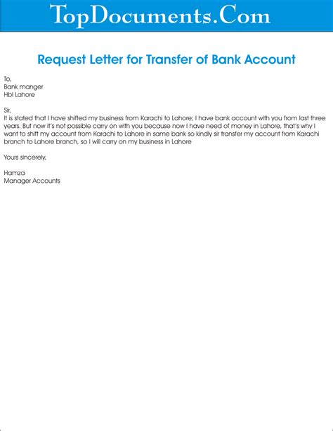 bank account closing letter format sample bank account