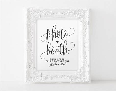 Photo Booth Sign Printable, Photo Booth Sign, Wedding Printable, Wedding Sign, Wedding Ideas Wedding Tumblr Pictures Guest Bts Night Best Registry Kendra Caldwell Jimin List Amazon Just Want Money