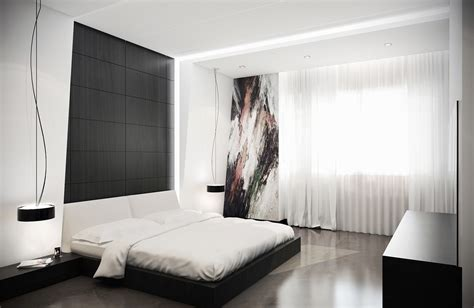 Contemporary Bedrooms : 40 Beautiful Black & White Bedroom Designs