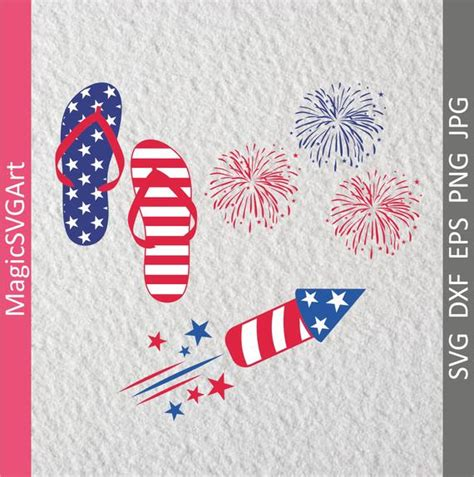 The little brother version has smaller antlers and his big brother of course has big antlers :d. American Flag Fireworks Flip-Flops firecrackers Fourth of ...