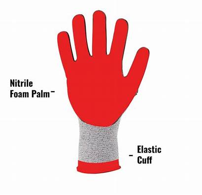 Gloves Cut Impact Resistant Ax360 Seamless Palm