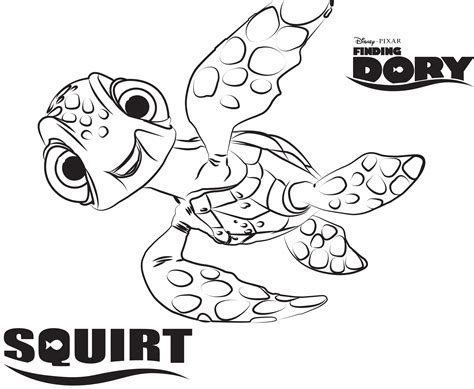 Disney's Finding Dory Coloring Pages Sheet, Free Disney